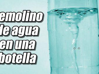 Remolino de agua en una botella, cómo se hace #Top