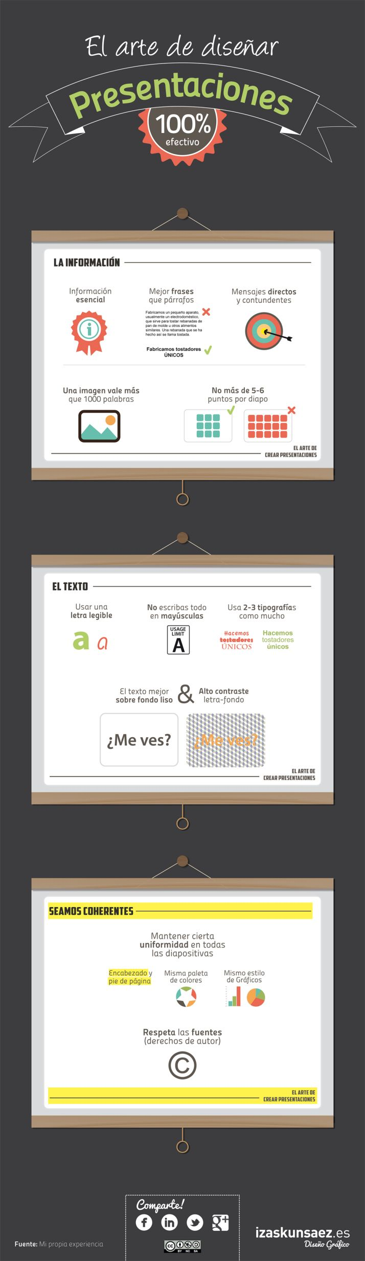 El arte de diseñar buenas presentaciones #infografia #infographic #marketing se...
