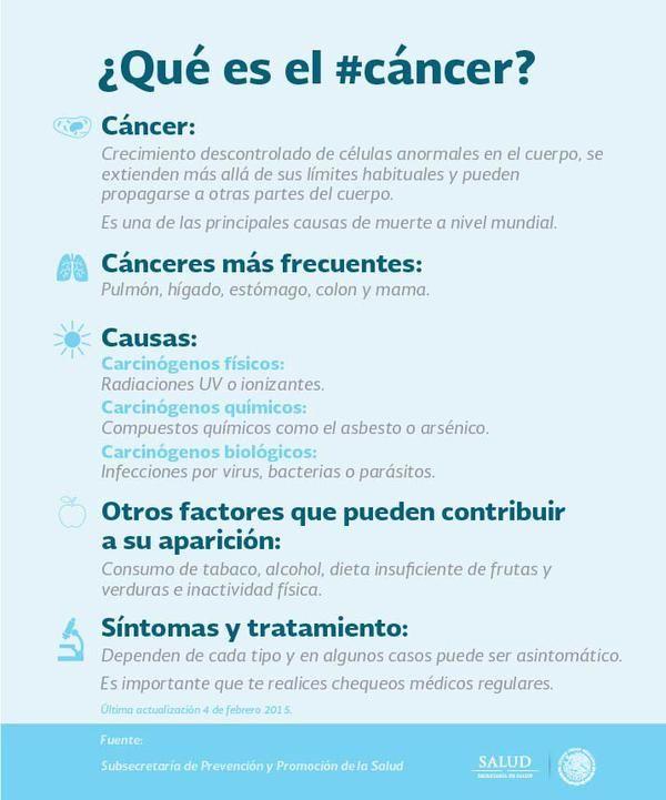 Causas del #cáncer   #infografía #salud