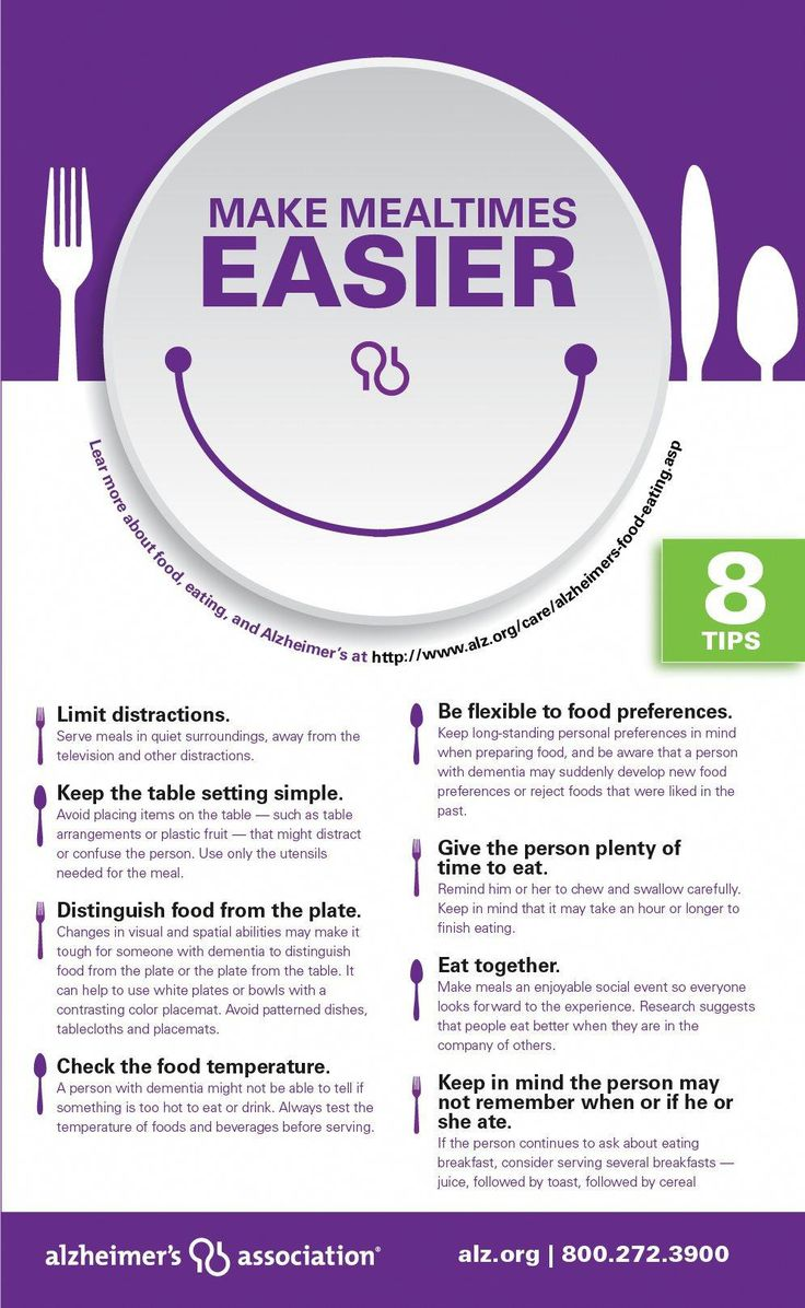 How to Get Someone with Dementia to Eat: 8 Expert Tips [Infographic