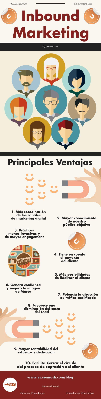 Ventajas del Inboud Marketing #infografia #infographic #marketing