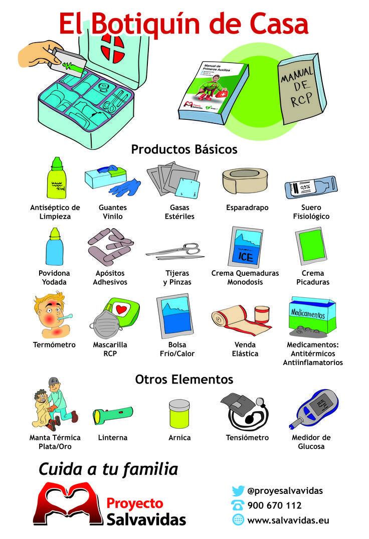 infografías - salud - botiquín de casa