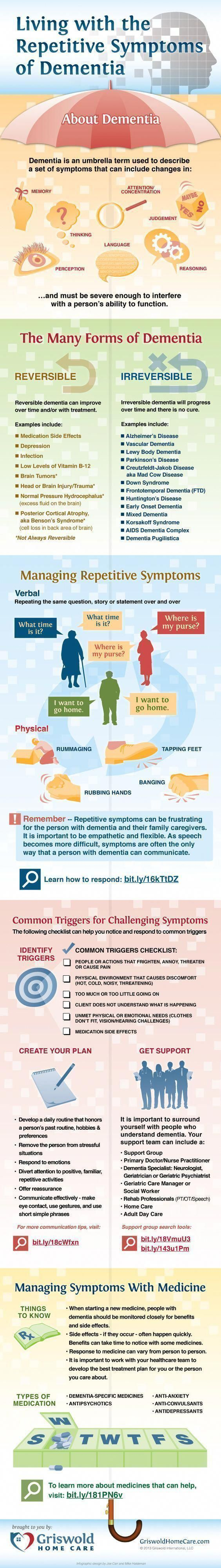 Did you know ❓ Living with the repetitive symptoms of Dementia. Source: Griswold Home Care #alzheimers #alzheimersfacts #dementiacaregivers #alzheimerscare