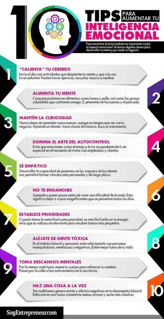 10 consejos para aumentar tu Inteligencia Emocional #infografia #infographic #psychology