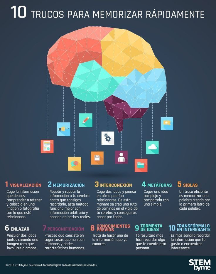 10 trucos para memorizar rápidamente #infografia #infographic