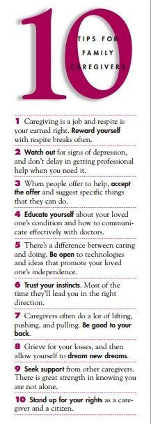 10 tips for family #caregivers: