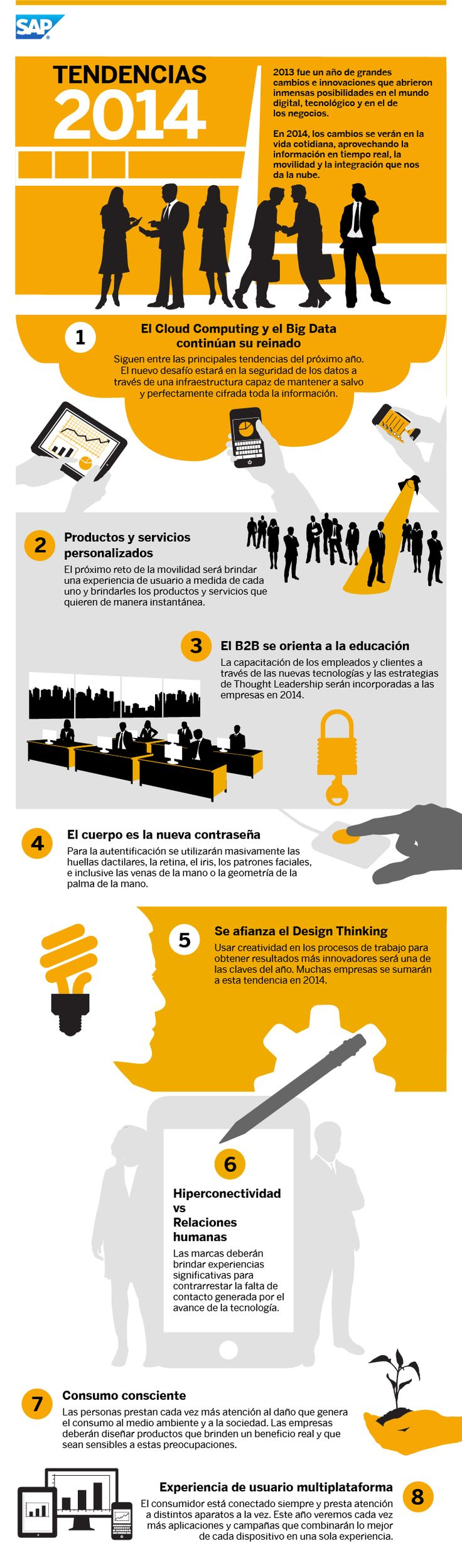 Tendencias digitales para 2014 #infografia #infographic