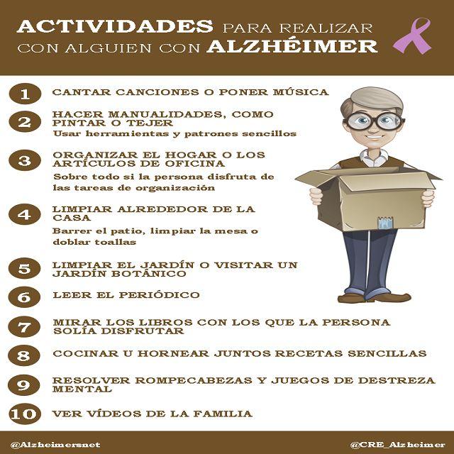 Actividades para Alzheimer #alzheimerscaregivers