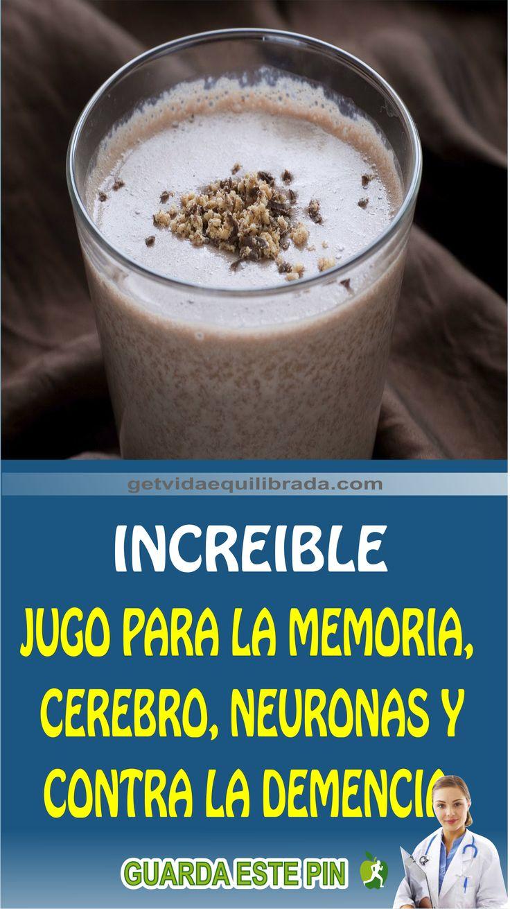 POTENTE JUGO PARA LA MEMORIA, CEREBRO, NEURONAS Y CONTRA LA DEMENCIA
