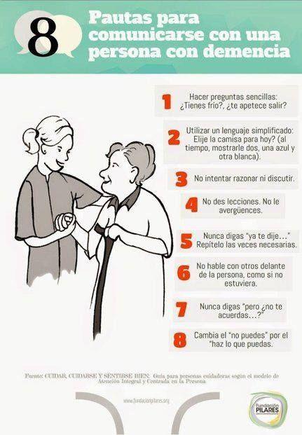 | Ocho pautas para comunicarse con una persona con #demencia