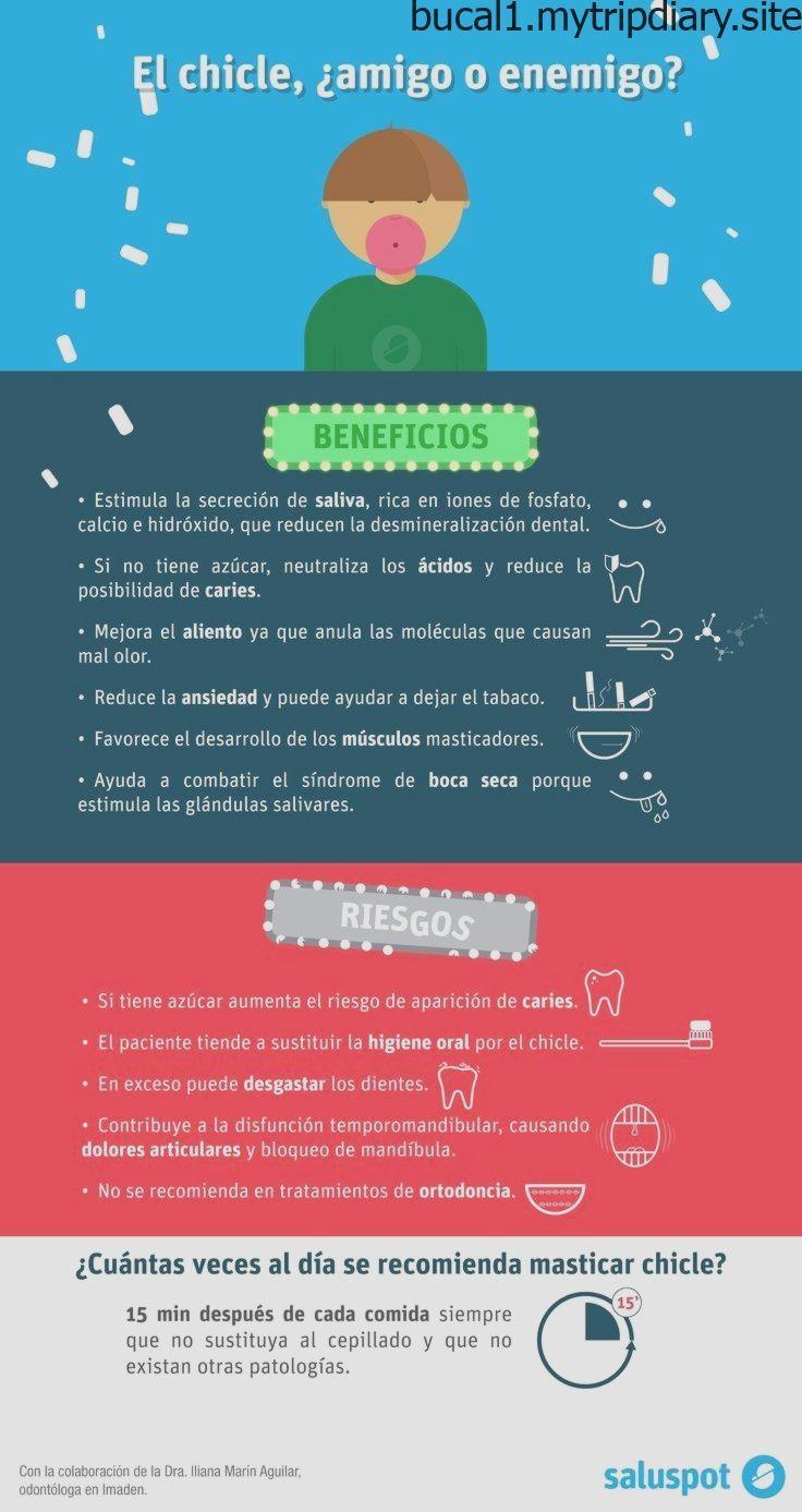 Infografía sobre los beneficios y los riesgos de masticar chicle.#informacion#S..., #benefici...