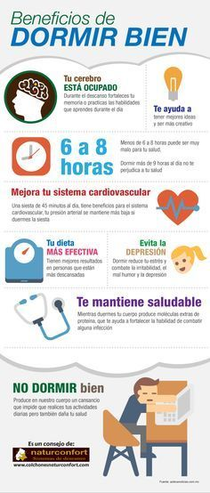 : Beneficios de dormir bien #infografia #infographic #health