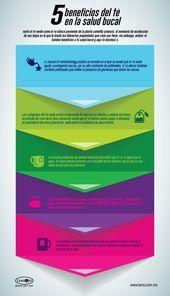 Infografía: 5 beneficios del té en la #salud bucal.  #infografia de #salud