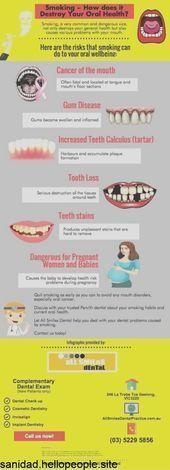 El tabaquismo y sus efectos en la salud bucal infografía,  #bucal #efectos #Inf...