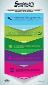 Infografía: 5 beneficios del té en la #salud bucal.  #infografia de #salud,  #...