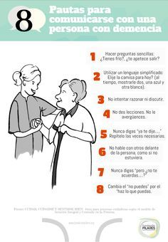 8 pautas para comunicarse con una persona con demencia