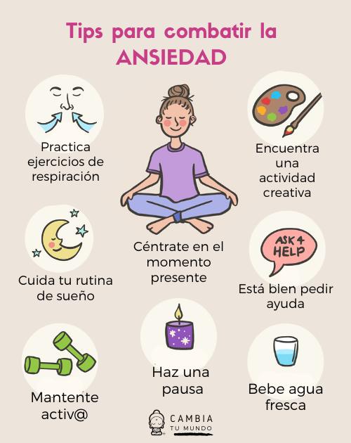 Tips para combatir la Ansiedad