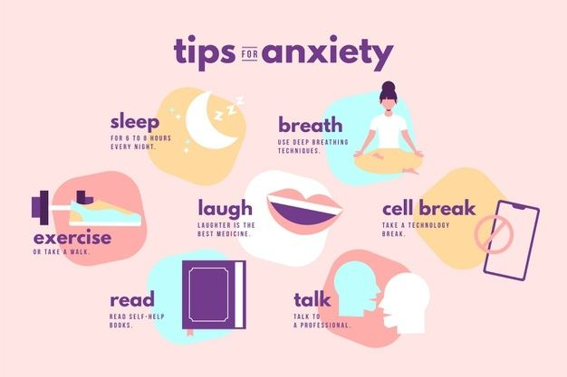 Download Tips For Anxiety Infographic for free