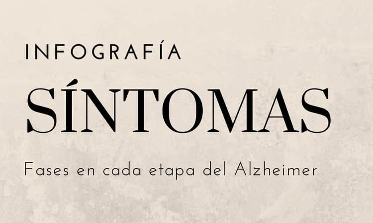 Infografía Fases del Alzheimer y Síntomas en cada Etapa