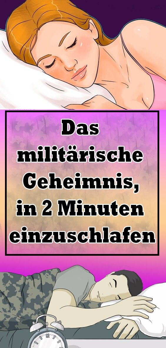 Das militärische Geheimnis, in zwei Minuten einzuschlafen