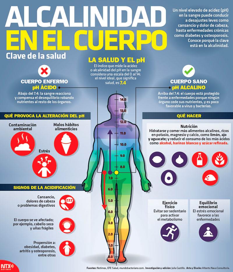 Alcalinidad en el cuerpo, clave de la salud