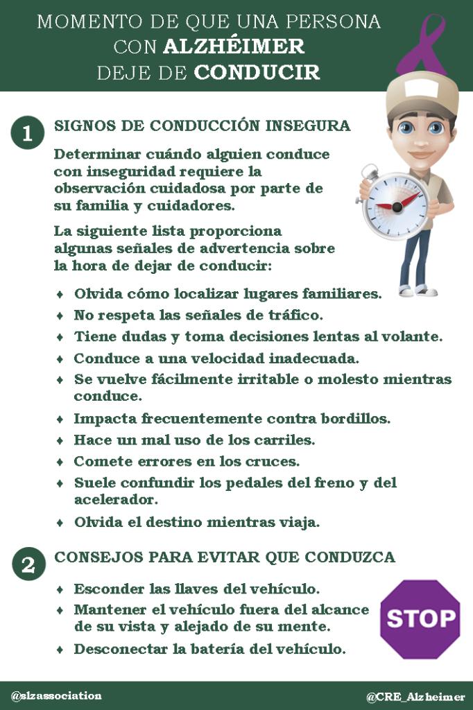 Consejos para cuidadores «Infografia Signos de conducción insegura» ~ Blog Alzheimer 2.0