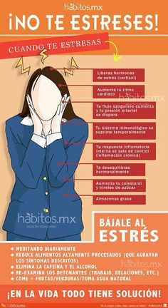 No te estreses #Infografia #Infographic #Health