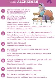 Consejos para cuidadores «Viajar con alguien con alzhéimer» – #Infografia #Alzheimer #Demencias