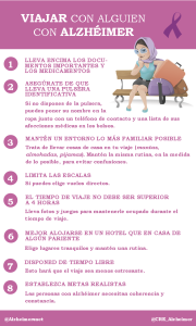 Consejos para cuidadores «Viajar con alguien con alzhéimer»